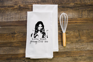 "Alexa ""Love That Journey For Me"" Schitts Creek Flour Sack Towel"