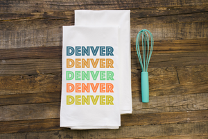 Retro Colorado Flour Sack Towel