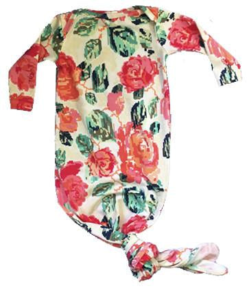 Floral Knotted Gown - Aspen Lane