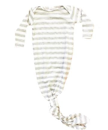 Stripe Heather Gray Knotted Gown - Aspen Lane