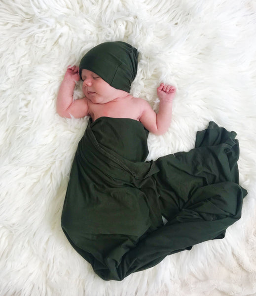 Rose Peony w/ Green Swaddle Set Floral Maternity Robe  | 3-Piece - Aspen Lane