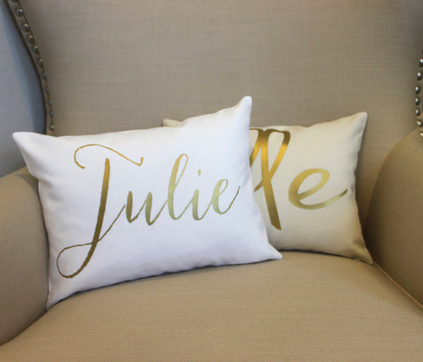 Personalized Name Pillow | Choose from 6 fonts - Aspen Lane