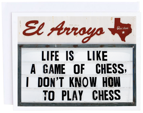 Life Is Like Chess | Blank Greeting Card