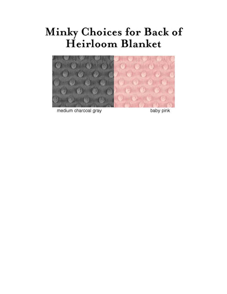 "Dear ""Baby Name"" Heirloom Minky Blanket-Minky Double-Side - Aspen Lane"