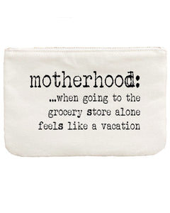 Canvas Gift Pouch Bag | Motherhood Vacation - Aspen Lane