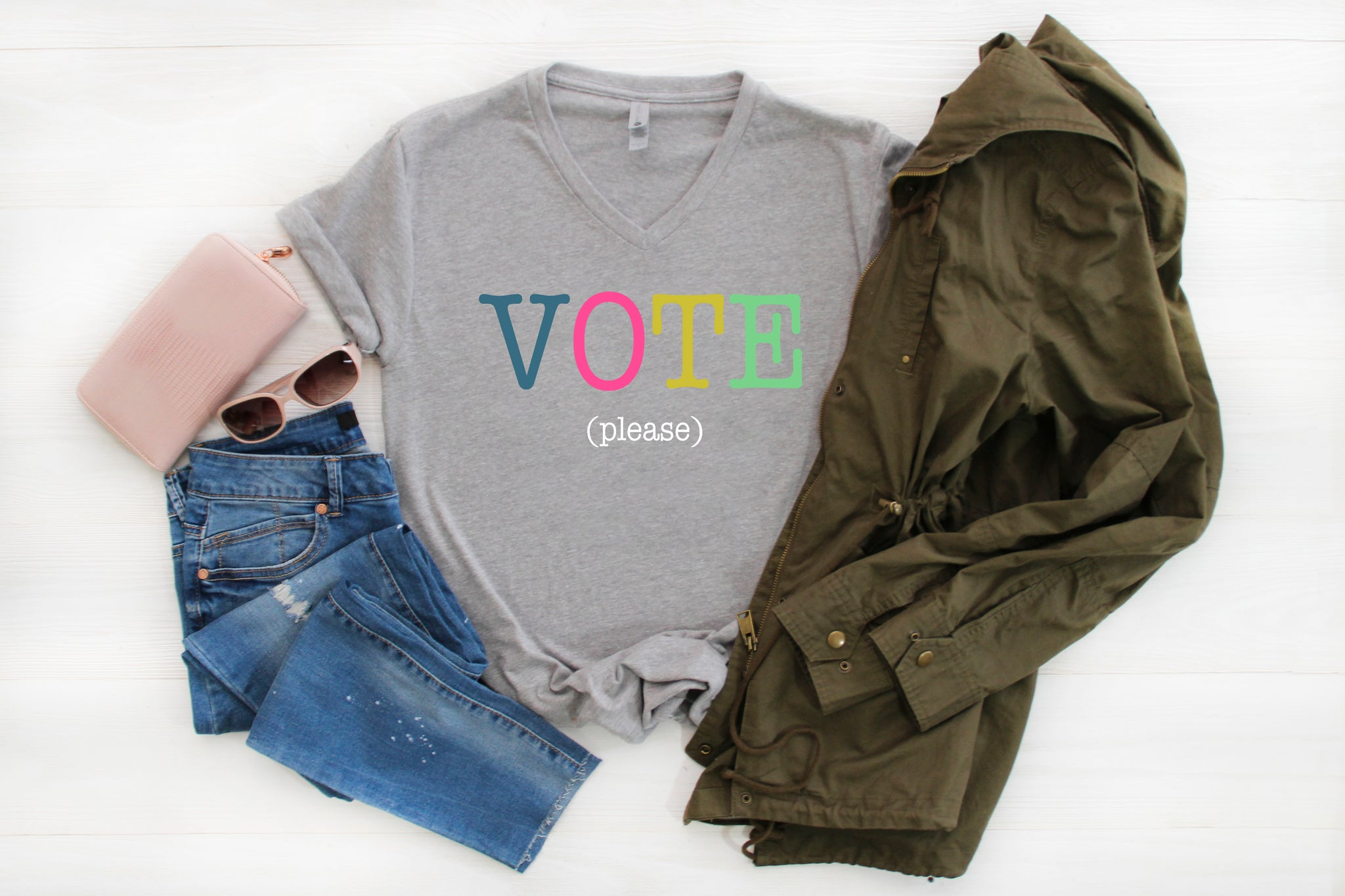 Vote Color Block T-Shirt | Adult + Kids - Aspen Lane