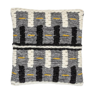 "Black & Cream 20"" Pillow"
