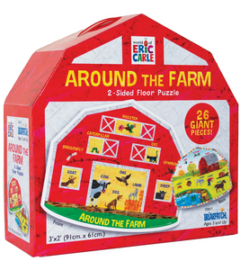 Around the Farm 2-Sided Floor Puzzle