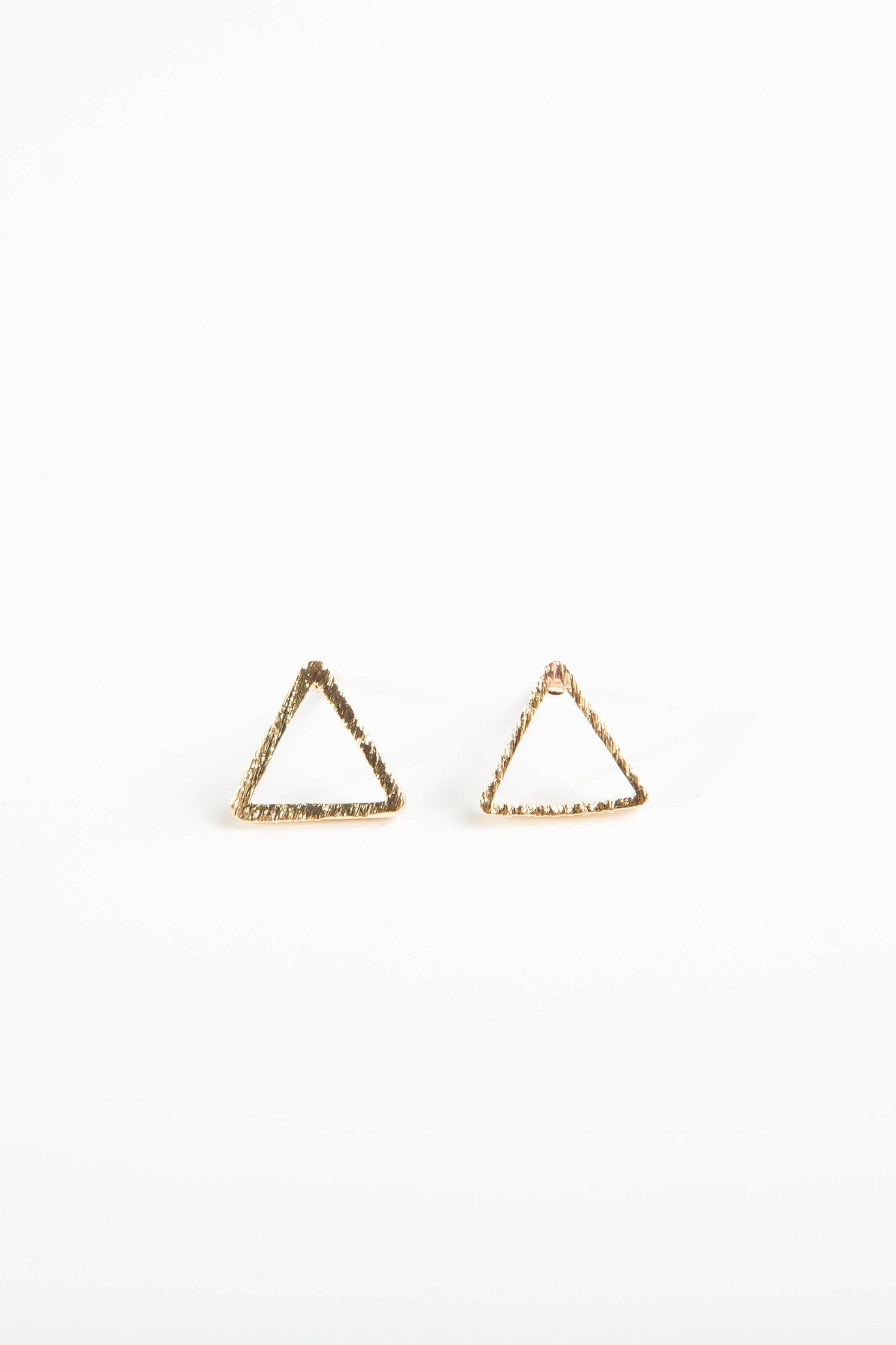 Triangle Studs Gold