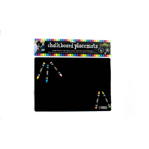 Chalkboard Plain Placement: Set of 4 - Aspen Lane