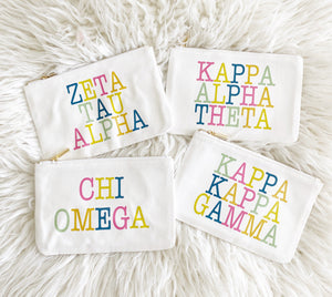 Sorority Color Block Pouch | Wholesale Only - Aspen Lane