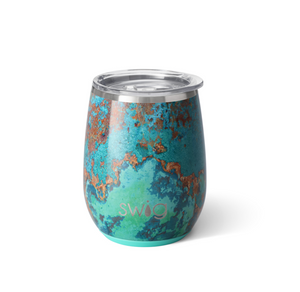 Copper Patina Stemless Cup (14 oz)