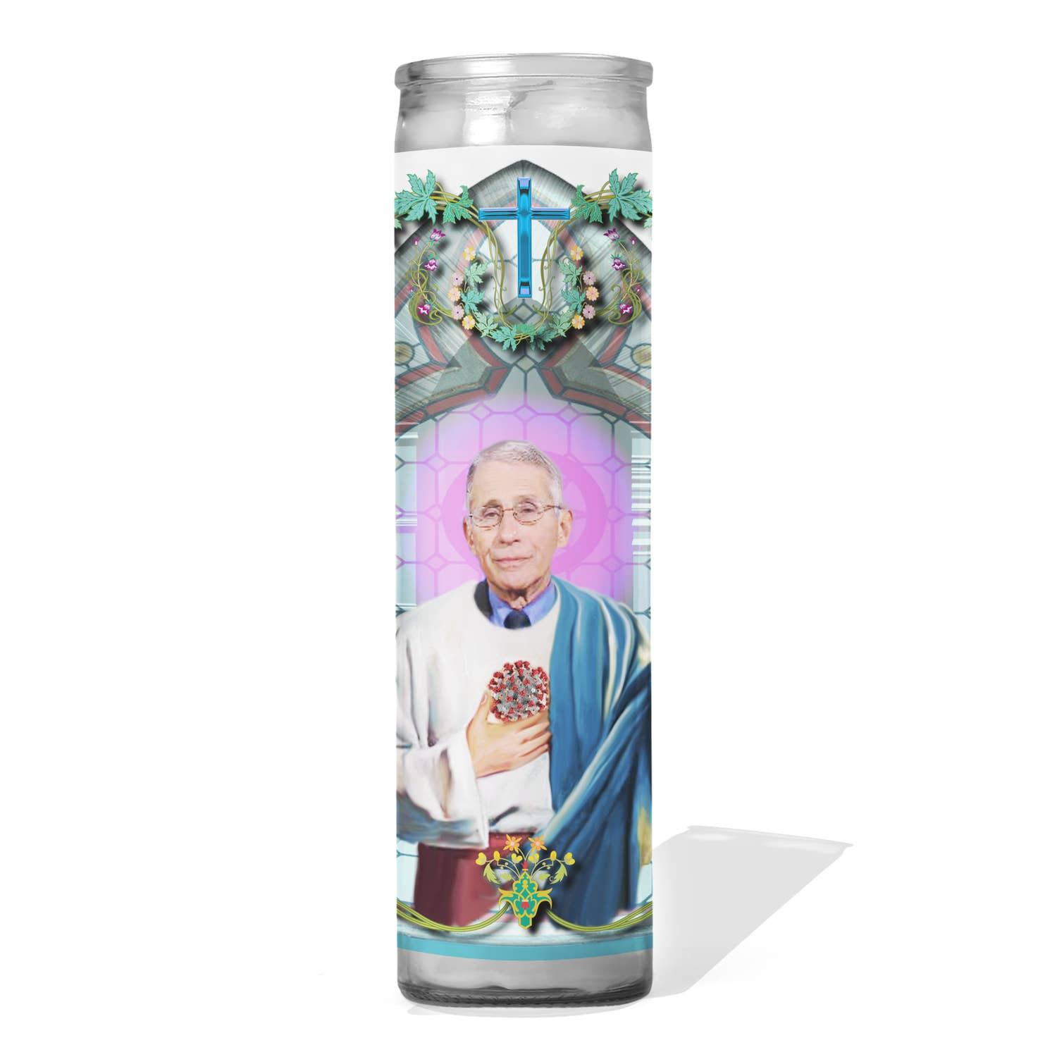 Dr Fauci Funny Prayer Candle - Aspen Lane