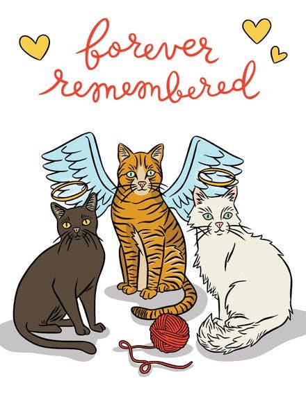 Cats Forever Remembered Card