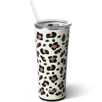 Luxy Leopard | 32 oz Luxury Tumbler w/ Straw - Aspen Lane
