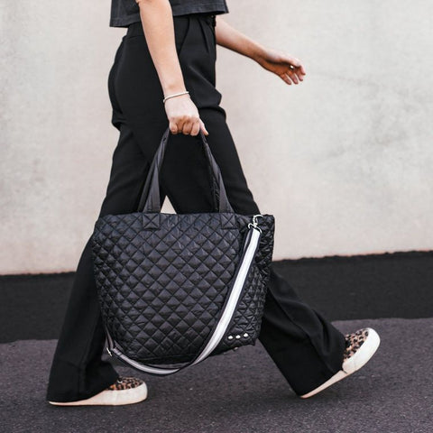 The SoHo Tote w/ B&W Stripe