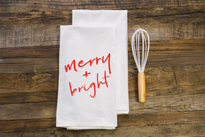 Merry & Bright Flour Sack Towel - Aspen Lane