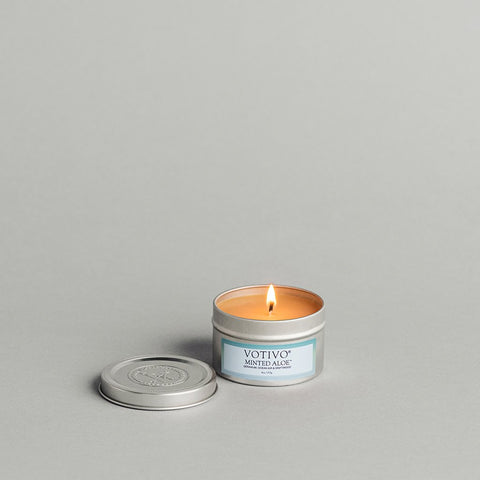 Minted Aloe Travel Tin Candle