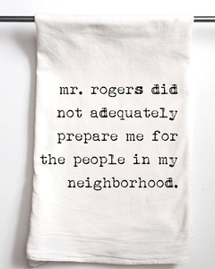 Mr. Rogers Flour Sack Towel - Aspen Lane