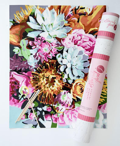 Pinch Me Floral Paint by Number Kit
