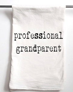 Professional Grandparent Flour Sack Towel - Aspen Lane