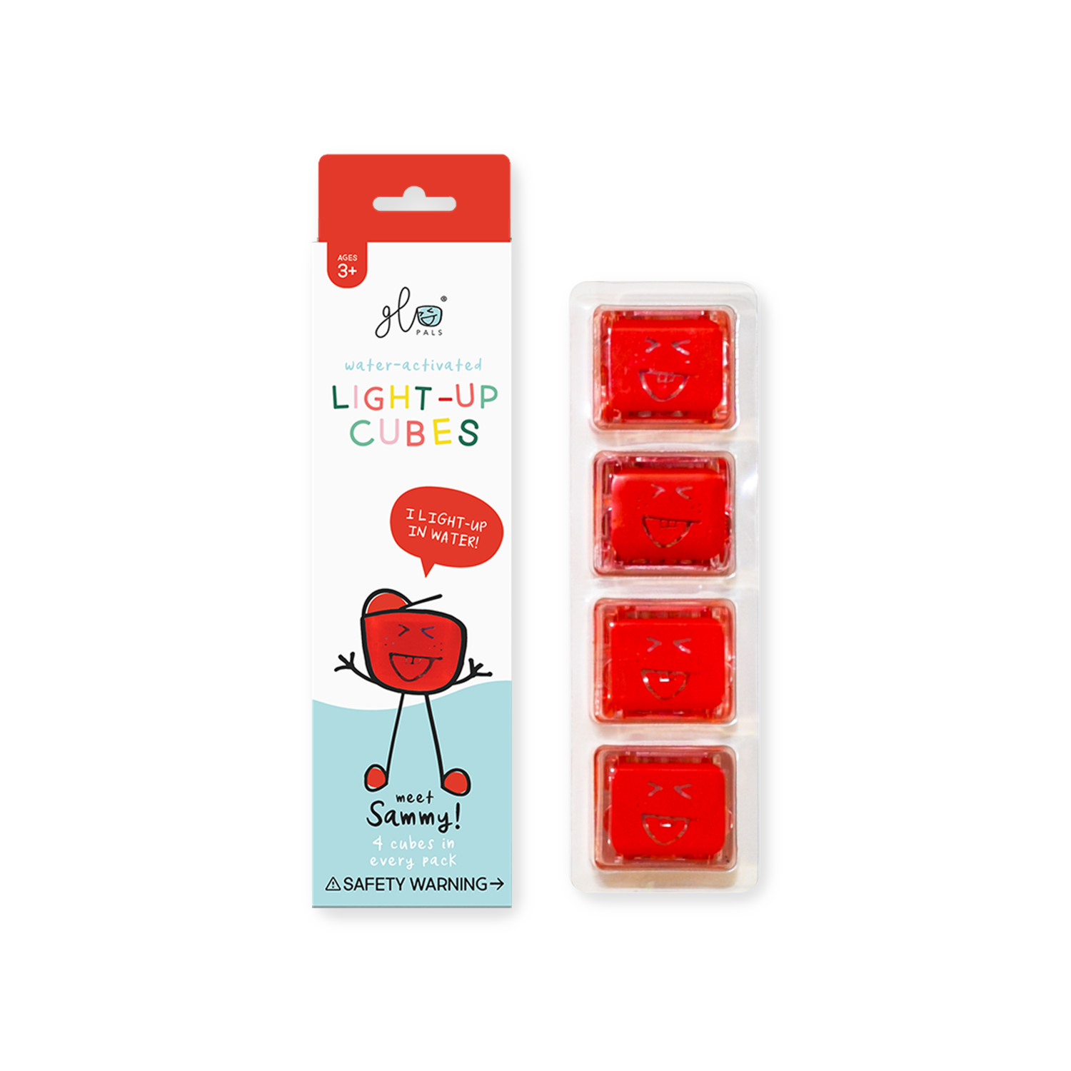 GlO Pal Cube Set of 4 (Red)