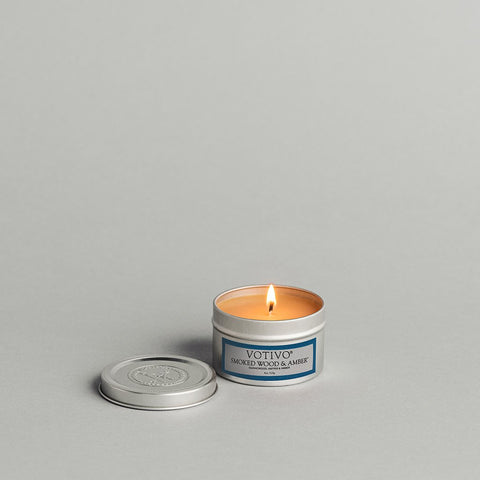 Smoke Wood & Amber Travel Tin Candle