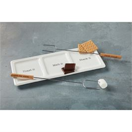 S'more tray & skewer dish