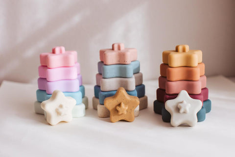 Star Stacking Silicone Toy