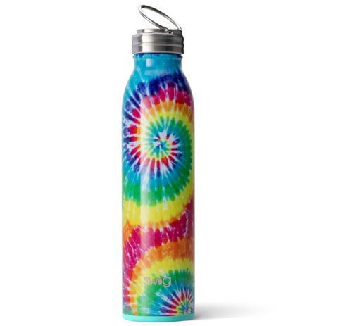 Swirled Peace Tie Dye Water Bottle | 20 oz