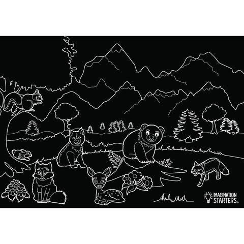 Chalkboard Wildlife Placemat - Aspen Lane