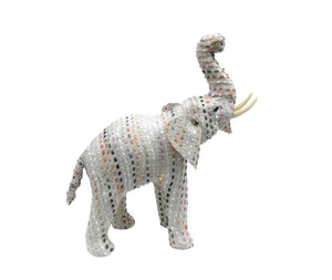 Woven Colorful Cotton Elephant: 2 sizes