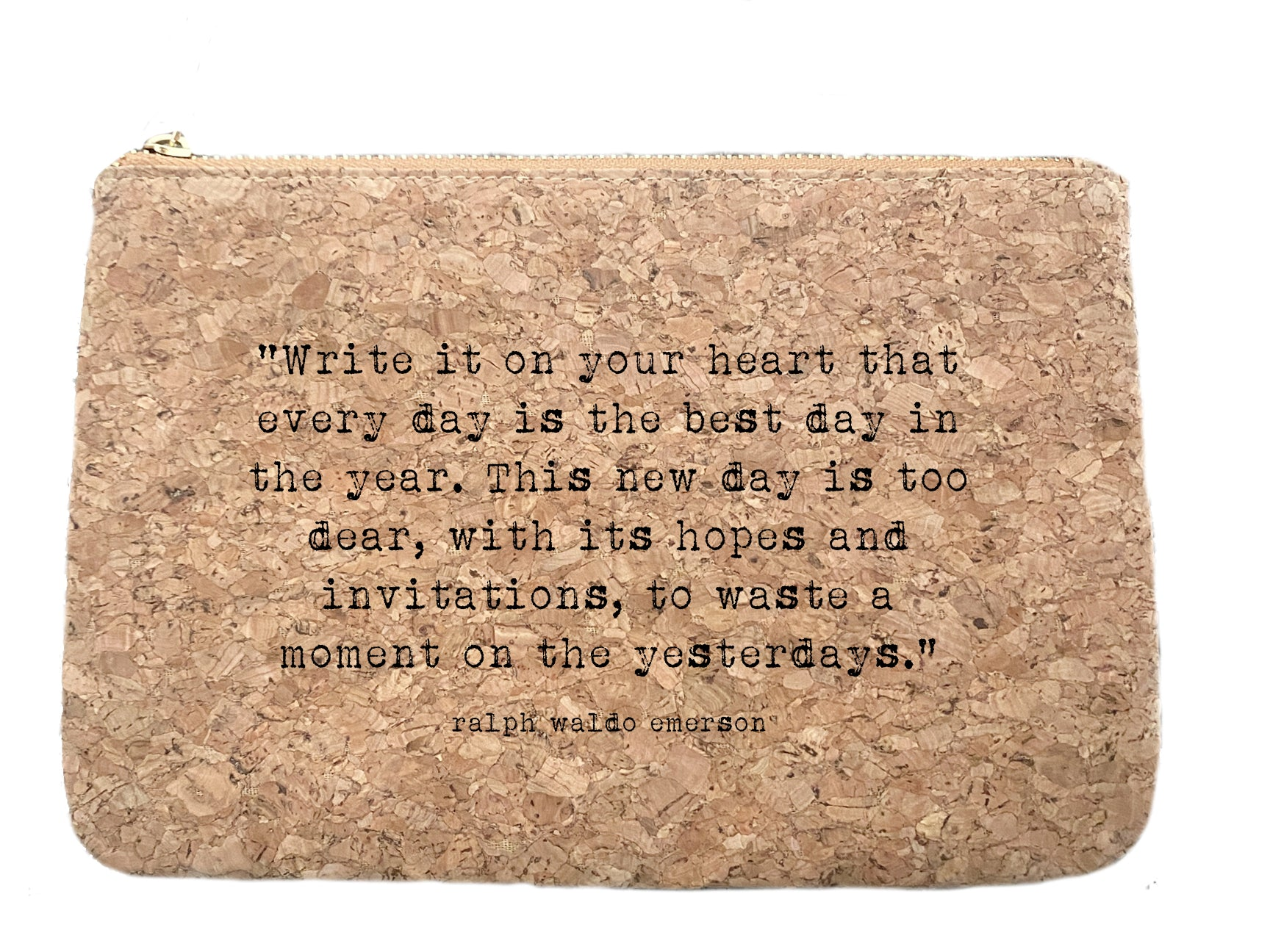 Write it on Your Heart | quote cork bag