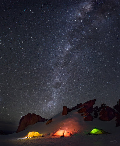 Under the Milky Way: Snowy Mountains