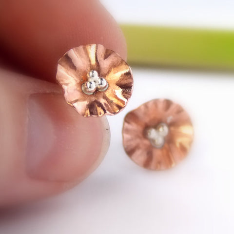 flower earrings stud liliana jewelry studs shop