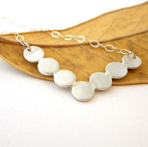 Pebble Chevron Necklace - Sterling Silver - Rito Originals - 1