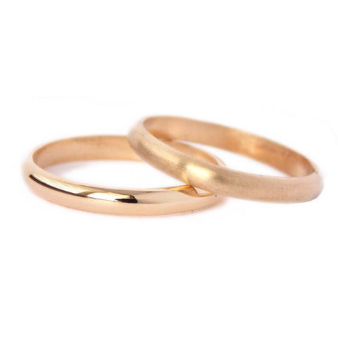 14k Gold Domed Wedding Band - Rito Originals