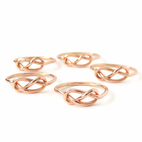 BATCH of Infinity Knot Rings - 14K gold filled ring - Rito Originals