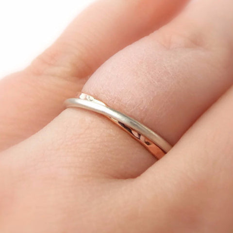 Double Linked Rings - Gold-filled and Sterling Silver - Rito Originals