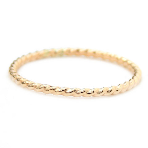 Gold-filled Twisted Rope Ring - 14K Gold-filled - Rito Originals - 1