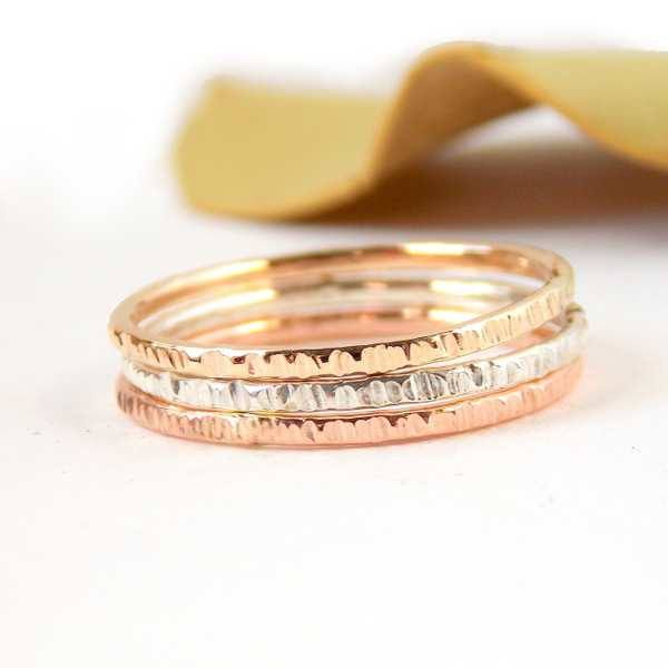 Solid Gold Gold filled and Sterling Silver Rings Gold filled Rings