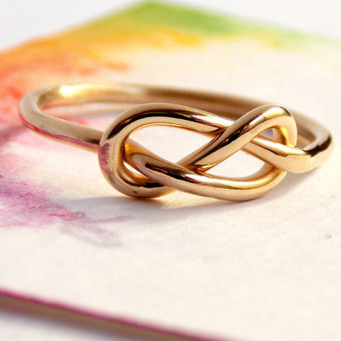 Infinity Knot Ring - 14K Yellow Gold-filled - Rito Originals