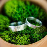 Line Textured Birch Ring - Sterling Silver - Rito Originals