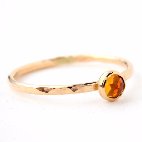 Mini Rose Cut 14K Gold Ring - Rito Originals - 1