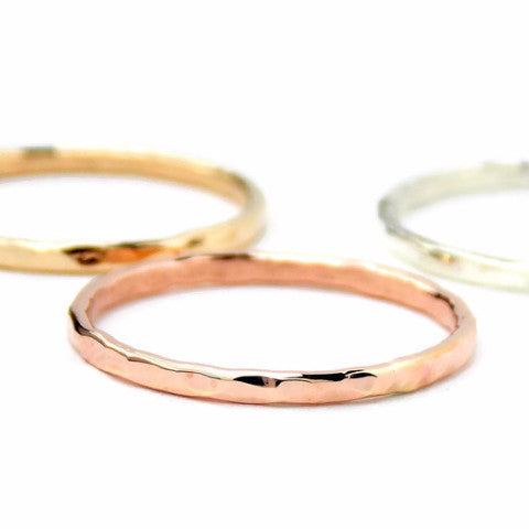 Reflection Stacking Ring - Sterling Silver or Gold-filled - Rito Originals - 1