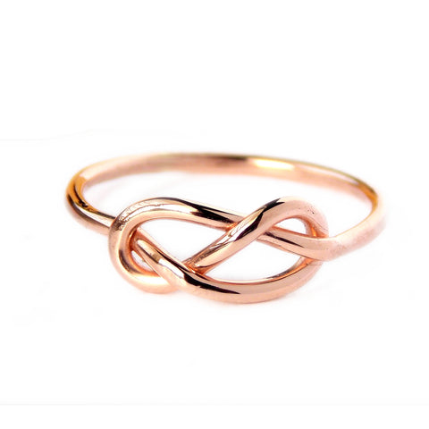 Rose Goldfilled Infinity Knot Ring Rito Originals