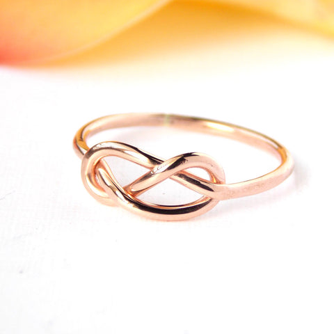 Rose Gold filled Infinity Knot Ring
