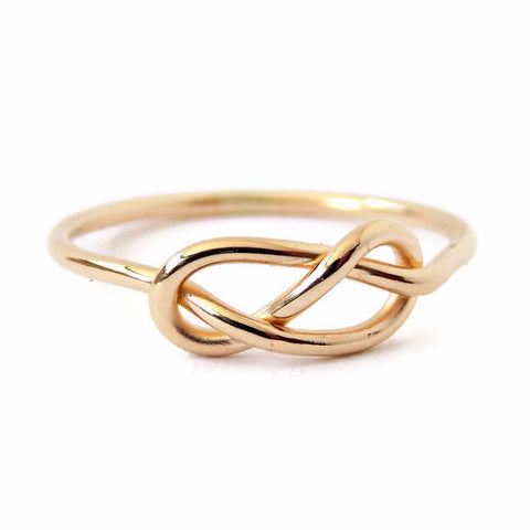 Solid 14k Gold Infinity Knot Ring - Rito Originals
