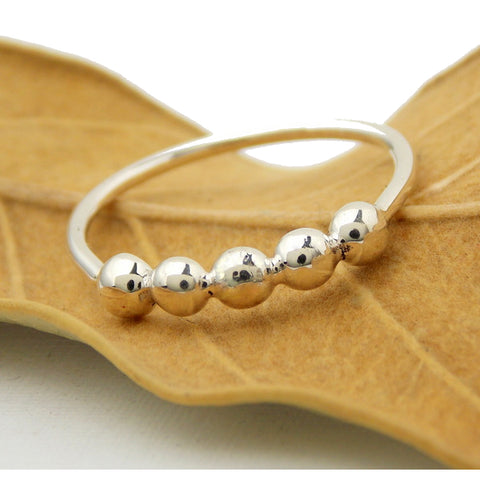 Sterling Pebble Band Stacking Ring - Rito Originals - 1