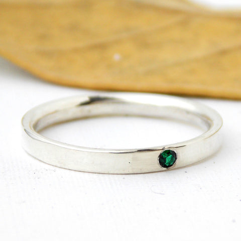 Sterling Silver Inside Out Birthstone Ring - Rito Originals - 1